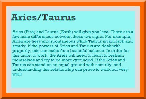 Aries and taurus compatible
